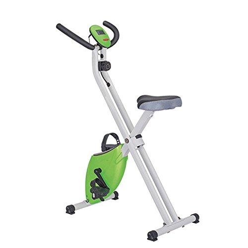 YAOSHI-Equipo de gimnasia Indoor Sports Fahrrad Ultra-leise Upright Home Magnetic Control Spinning Fahrrad Fitnessgeräte Heimtrainer Fitnessgeräte (Farbe : Grün)
