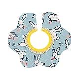Bigsweety Bigsweety Baby Speichel Handtuch Lätzchen 360 Grad Drehung Drei Schicht Wasserdichte Mund Wasser Tasche für Neugeborene (Farbe 2)