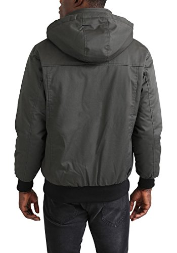 REDEFINED REBEL Martin Herren Übergangsjacke Jacke mit Stehkragen und abnehmbarer Kapuze aus hochwertiger Baumwollmischung Anthra