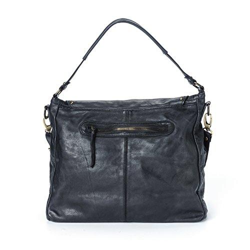 Ira del Valle, Borsa Donna, In Vera Pelle, Vintage, Modello Arizona, Made in Italy nero