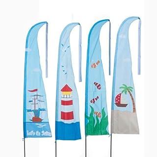 Arti Casa 45624-Natursport-Flaggen x1-4Garnituren, Motiv: Meer-150x 217cm