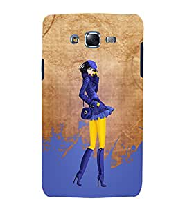 Killed Me This Paint Girl 3D Hard Polycarbonate Designer Back Case Cover for Samsung Galaxy J7 (2015) :: Samsung Galaxy J7 J700F (Old Version)