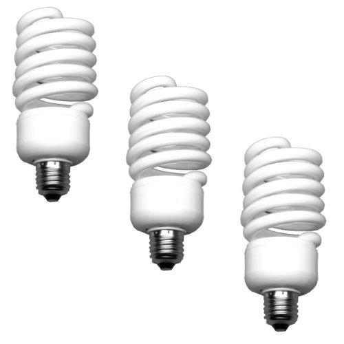 Walimex Spiral-Tageslichtlampe (50 Watt) 3er Set - 50w Spiral