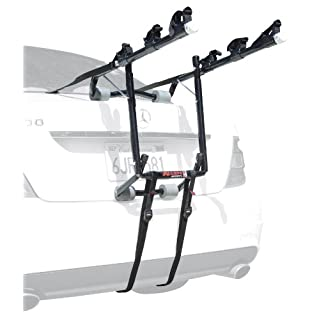 Allen Sports USA Deluxe 3-Bike Trunk Mounted Bicycle Carrier for Automobile - Black