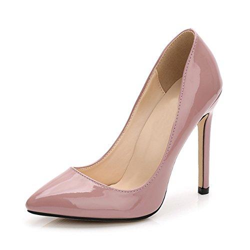 OCHENTA Damen Pumps Sexy Stiletto High Heels Klub Modisch Ohne Verschluss Kleidschuhe #11 Nude Pink Asiatisch 40/ EU 39 Pink Stiletto