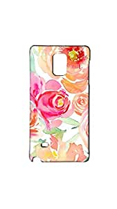 Multicolor Floral Pattern Paniting Mobile Back Cover/Case For Samsung Galaxy Note 4