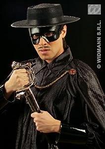 WIDMANN?Máscara Domino zorro giustiziere Unisex adulto, Negro, talla única, 6435b