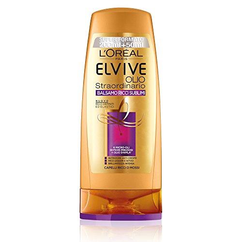 L'Oréal Paris Elvive Olio Straordinario Ricci Sublimi - Balsamo idratante per capelli ricci o mossi - 250 ml