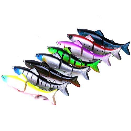 veapup 8PCS–mehrteilig Fisch mit Flügeln Fake Fisch Köder 12,5cm/19g–mehrteilig klein Fly Angelköder Montage Köder Zubehör Kunststoff Angeln Köder (Set)