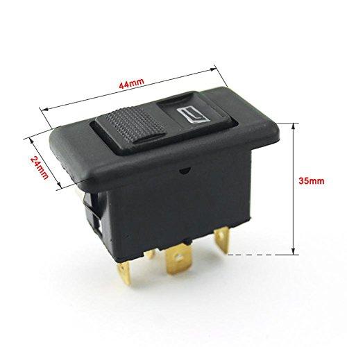 20A universal 5pines Botón Elevalunas Interruptor Palanca Control de ventana de transmisión