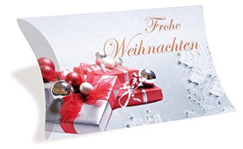 Gutscheinkarten Etui (10 Stück) - wunderschöner Gutschein für Weihnachten - blanko Geschenkbox zum Eintragen der Werte -