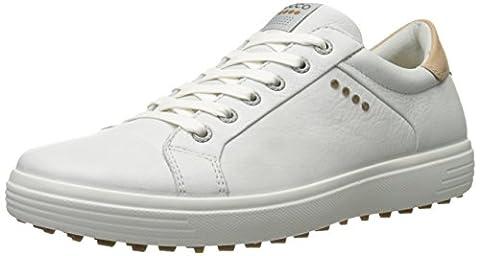 ECCO , Chaussures de Golf homme, MEN'S GOLF CASUAL HYBRID, Blanco (WHITE1007), 45