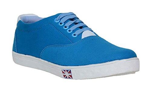 Red Rose Men's Blue canvas Casual Shoes