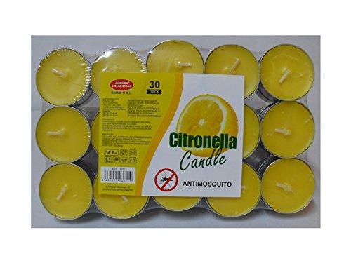 Velas citronella 30 uds.