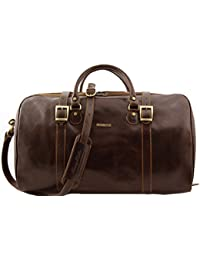 Tuscany Leather Berlin Sac de voyage en cuir avec boucles - Grand modèle Marron