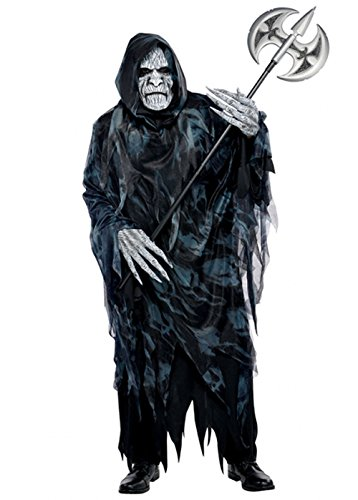 Mens Halloween Sensenmann Soul Taker Kostüm M/L (chest 40-42