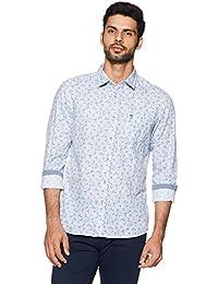 Arrow Jeans Men's Printed Slim Fit Cotton Casual Shirt
