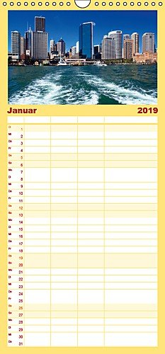 SYDNEY Charmante Stadt - Familienplaner hoch (Wandkalender 2019 21 cm x 45 cm hoch): Die bezaubernde australische Küstenstadt (Monatskalender, 14 Seiten )