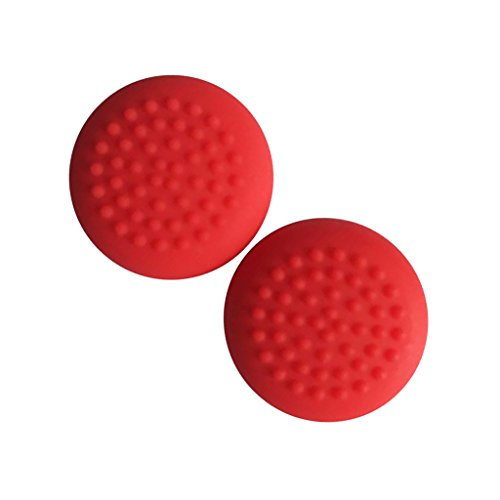 Segolike 1 Set Thumb Grip Caps for Nintendo Switch Joy-Con Controllers Comfort Covers Red