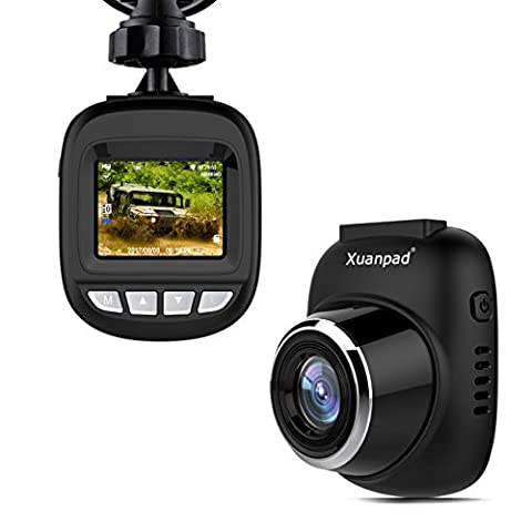 Xuanpad S3 Mini Dash Cam, Full HD 1080P Car Camera with 168° Wide Angle, G-sensor, Loop Recording, Motion Detection, Park