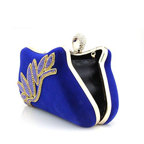 Samt Cheongsam Tasche Weibliche Modelle Handtasche Kettenpaket Diamant Abendtasche Schulter Messenger Bag Kupplung Red