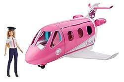 Barbie GJB33 - Reise Traumflugzeug Flugzeug mit Puppe und Zubehör, Puppen Spielzeug ab 3 Jahren