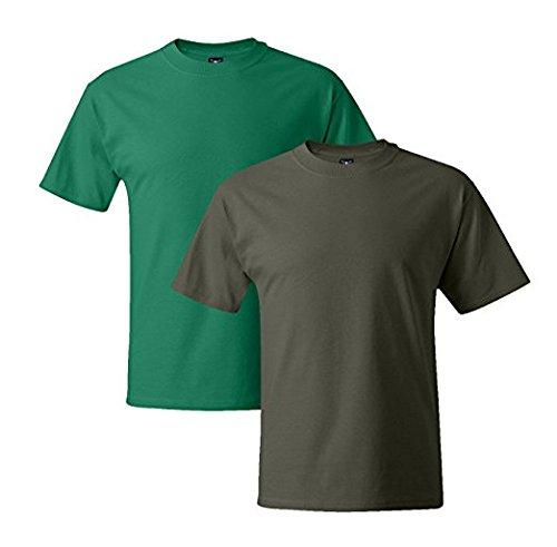 Beefy Short T Green Fatigue Hanes Mens Green 1 Kelly 5180 1 Sleeve XqxIqpH