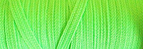 3 m Litze neon grün 5 mm Neon-grüner Reißverschluss