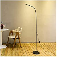 MIAOLULU LED Lámpara De Pie Regulable para Sala De Estar Salón Oficina,Black