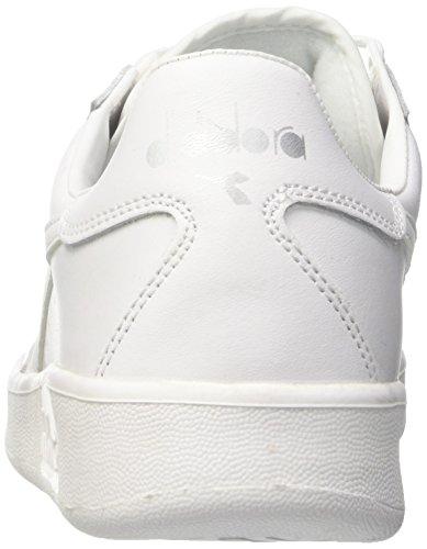 Diadora B. Elite, Sneaker a Collo Basso Unisex-Adulto Multicolore (C4701 Bianco Ottico/Bianco Candido)