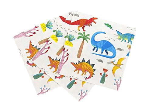 Talking Tables Dino Party Dinosaur 33Cm Napkin 20Pk, Papier, Mixed colors (Dinosaurier Party Servietten)