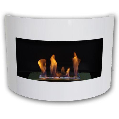 Gel-y-etanol-chimenea-acero-de-pared-Diana-Deluxe-Blanco-brillo-quemador-ajustable-1-litro