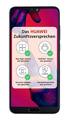 Huawei P20 Pro Smartphone Bundle (15,5 cm (6,1 Zoll), 40/20/8 MP Leica Triple Kamera, 128GB interner Speicher, 6GB RAM, Android 8.1, EMUI 8.1) Blau [Exklusiv bei Amazon] - Deutsche Version Headset-adapter S20 Pin