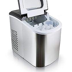 Eiswürfelmaschine Eiswürfelbereiter Eiswürfel Ice Maker Eis Maschine Icemaker (Edelstahl)