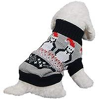 Amphia Haustier Kostüm - Weihnachten Haustier Hund Rollkragenpullover,Weihnachten Hund Katze Winter Warme Rollkragenpullover Mantel Kostüm Bekleidung(Grau,XXL)