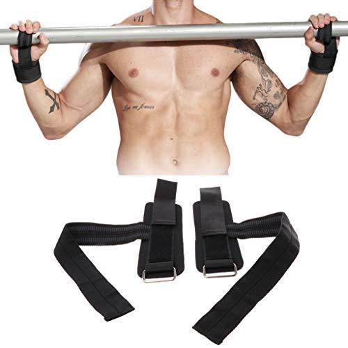 showkingL 2pcs Wristband Gym Training Gewichtheben Handgelenkstütze Grip Barbell Straps