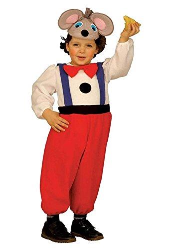 ♛ Tamaño 104-2/3 Años - Disfraz Traje Carnaval y Halloween De Mickey Mouse ratón Gigio Color Multicolor niño