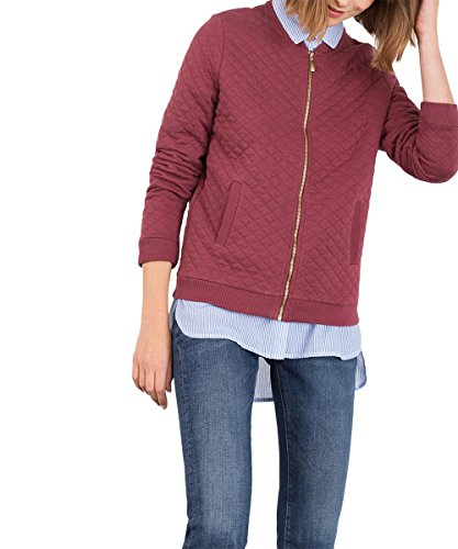 edc by ESPRIT Damen Jacke, Rot (Bordeaux Red 600)
