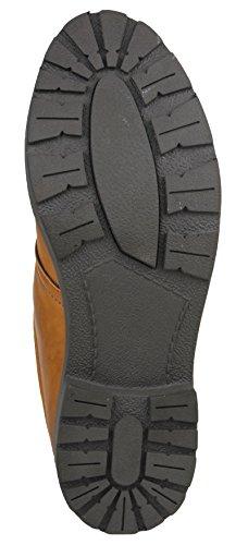 Digni Casual Shoes Ankel Boot Hommes Conduite Faux Chaussures en cuir Marron