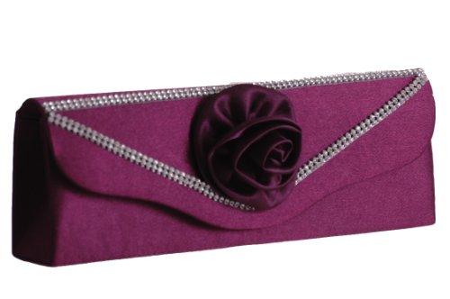 EyeCatchBags - Distinct Damen Clutch Handtäschchen Partytäschchen Handtasche Violett