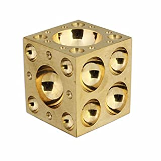 SOLID BRASS DAPPING DOMING BLOCK 1