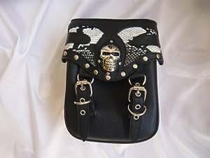 Sissy bar harley davidson sacoche de fourche sacoche de selle de moto en forme de tête de mort