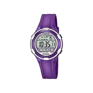 Calypso. Reloj Digital para Dama con Esfera LCD y Pantalla Digital, y Extensible de plástico de Color Purpura K5692/5