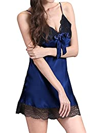 92accb20c5 Elevanto Premium Collection Micro Satin Regular Size Blue Color Womens  Night Dress nighty babydoll