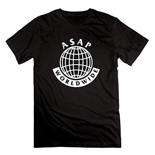 Men's ASAP Mob Logo ASAP Rocky Lord Short Sleeve T-Shirt Cotton Casual Funny Tee Shirt (Asap Rocky Bekleidung)