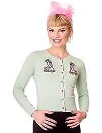 Hell Bunny Nancy Flamingo Rockabilly Gilet Top Style Années 40 50