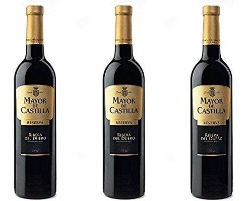 Mayor De Castilla Reserva D.O Ribera Del Duero Vino Tinto - 3 Botellas X 750 Ml - Total : 2250 Ml