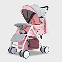 Bfg Boots Baby Stroller, Light Folding Easy to Carry Shock-Proof Baby Cart, Baby Travel System Bearing 30Kg, from Birth to 3 Years Old Baby,Pink