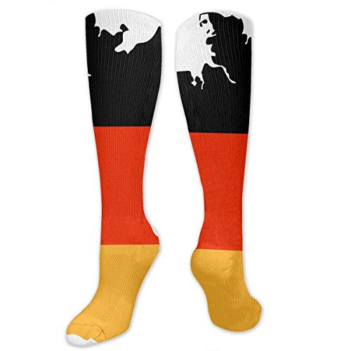 NFHRREEUR Knee High Socks German Flag Compression Socks Sports Athletic Socks Tube Stockings Long Socks Funny Personalized Gift Socks for Women Teens Girls