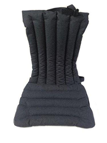 Coprisedile -nero- per schienale sedile auto macchina camion in pula di farro con effetto massaggiante, antisudore, ideale contro il sudore, antistress